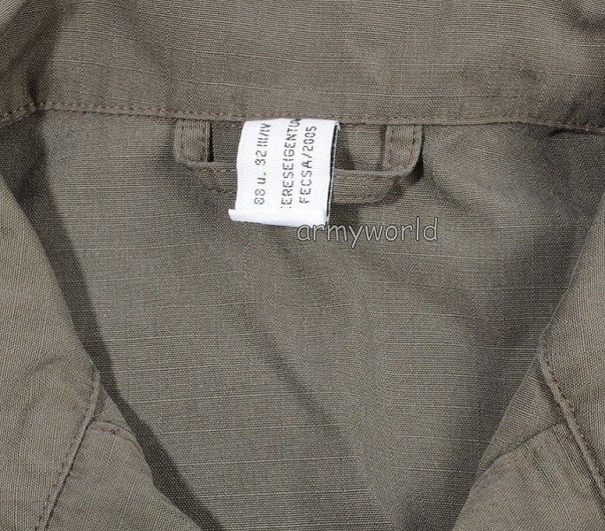 Austrian Military Shirt Ripstop Oliv Original Demobil II Quality
