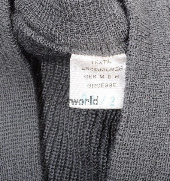 Austrian Military Woolen Sweater Grey Original Demobil