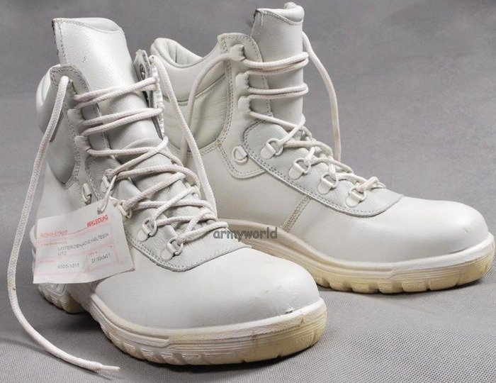 Baltes White Military Shoes With Metal Tips S2 Demobil