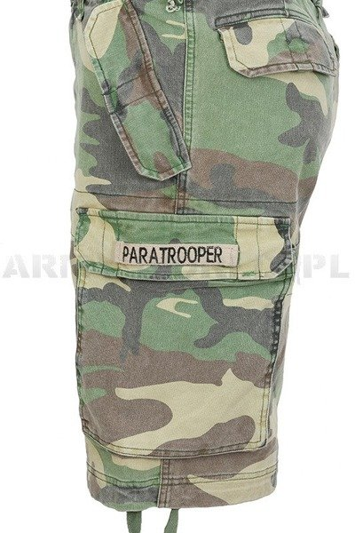 Bermuda shorts PARATROOPER  Miltec Shorts Woodland New