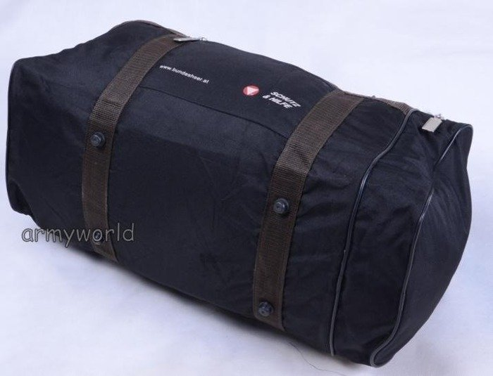 Black Austrian Travel Bag Transportation Bag Original Demobil II Quality