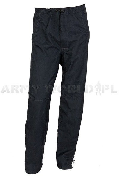 British Military Waterproof Trousers Goretex Foul Weather Nevy Blue Original Used
