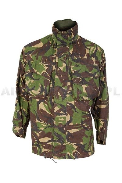 British Waterproof Jacket DPM Woodland Gore-tex With Pockets Original Demobil M1