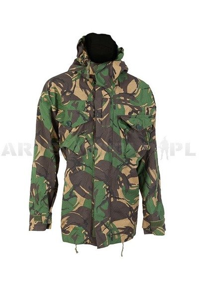 British Waterproof Jacket DPM Woodland Gore-tex With Pockets Original Demobil M3