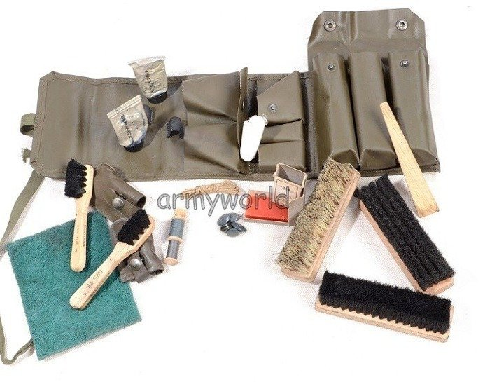 Brush Set To Shine Shoes Military Swiss Set Original Demobil