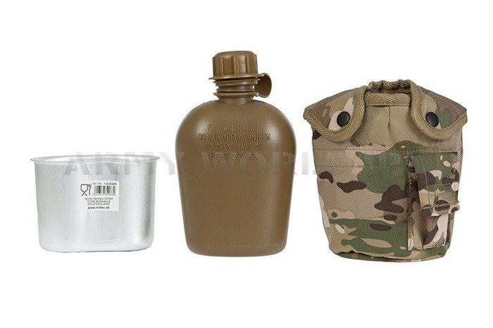 Canteen With Mug + Case Camogrom GRATIS Mil-tec New