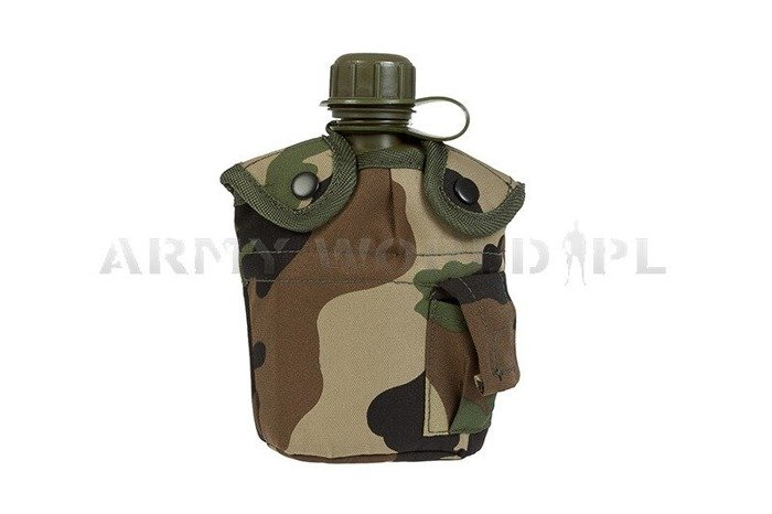 Canteen With Mug + Case Woodland GRATIS Mil-tec New