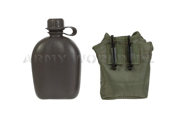 Canteen with Case Oliv 1 Liter Mil-tec New