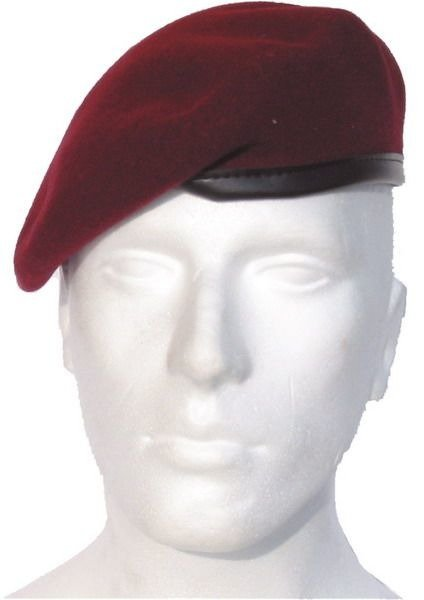 Claret Beret With Decoration HEERESFLIEGER - Air Cavalry Bundeswehr Original Demobil