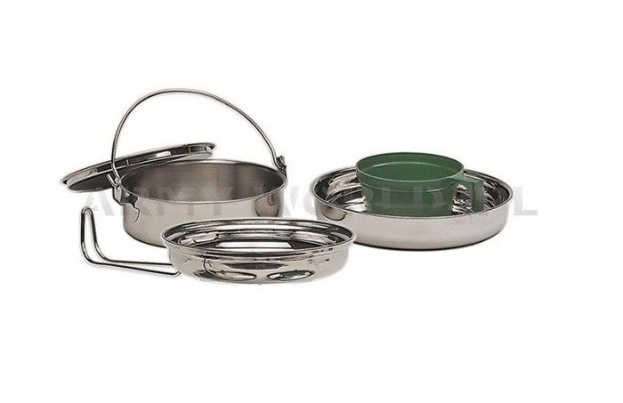 Cook Set Stainless Steel 1 Person Mil-tec Original New
