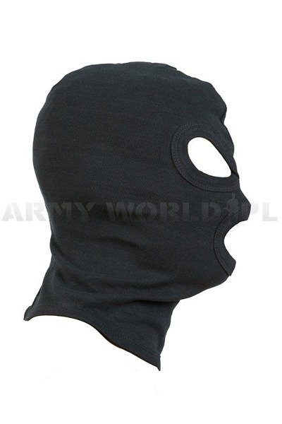Cotton 3-hole balaclava Mil-tec New Model Black