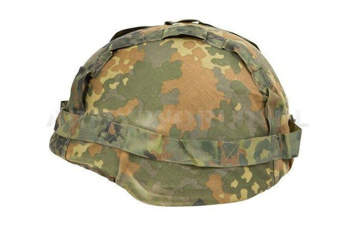 Cover For Kevlar Type Helmet Bundeswehr Reversible Two-Seded Flecktarn/Wustentarn Original Used
