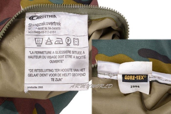 Cover For Sleeping Bag Carinthia With Mosquito Net Bivi Cover Gore-tex Military Belgian Original New