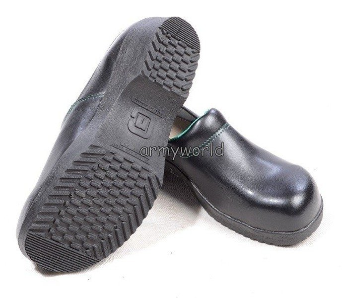 Danish Military Clogs Leather With Metal Tips Black Original New #2