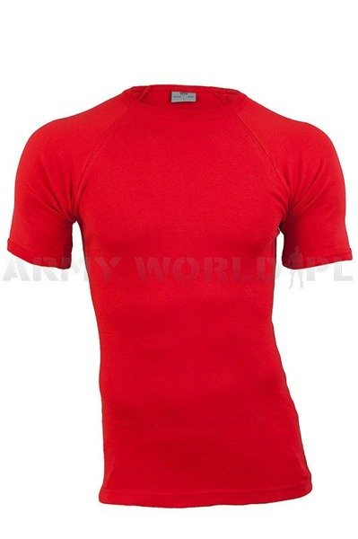 Danish Military Medical Red T-shirt Original New