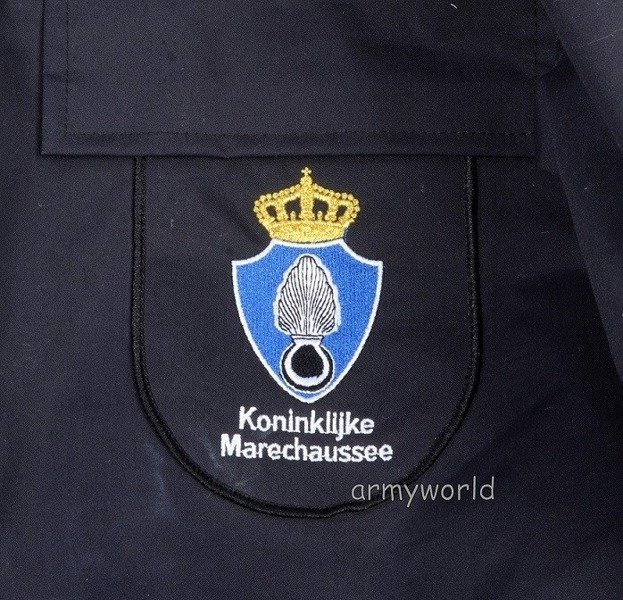 Dutch Jacket Of Royal Police Dark Blue With Liner Original New