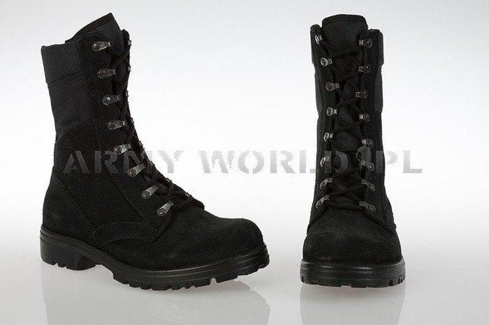 Dutch Military Boots Suede Leather M92 Black Original New
