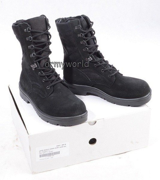Dutch Military Boots Suede With Sole 2005 Black Original New