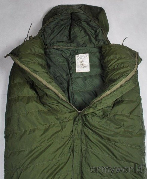 Dutch Military Down Sleeping Bag With Rubberised Back Original Demobil