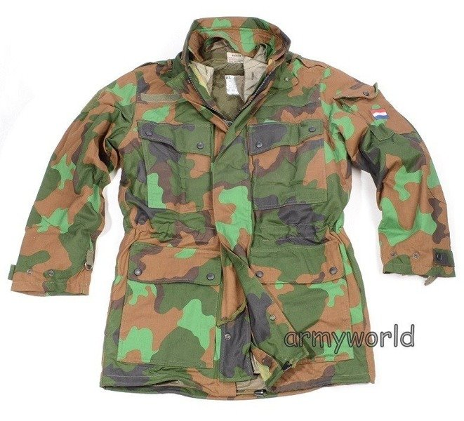 Dutch Military Jacket JUNGLE with Liner Original New