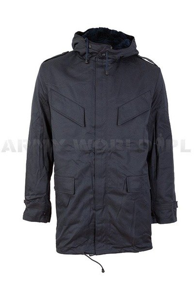 Dutch Military Jacket Parka Dark Blue Original New
