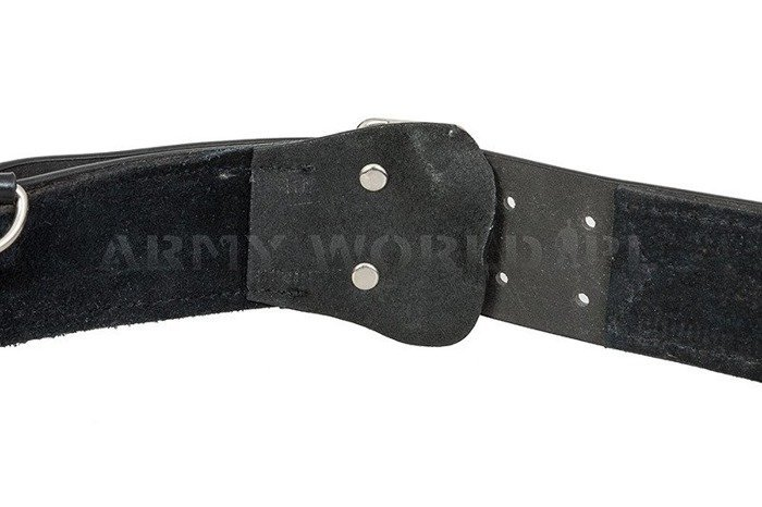 Dutch Military Leather Belt With Sam Browne Belt Black Original Used
