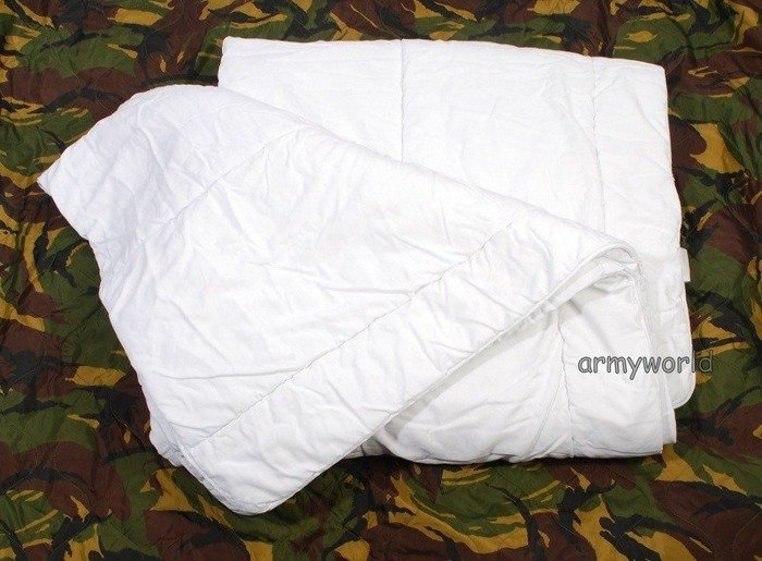 Dutch Military Quilt Flame-retendant White 140 x 220 cm Original New