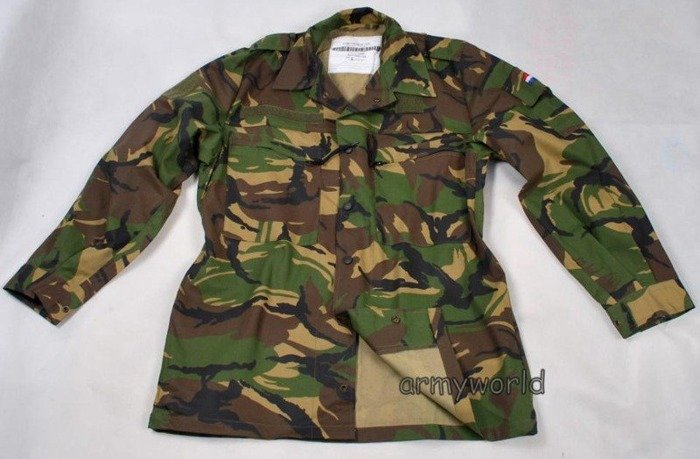 Dutch Military Shirt Camouflage DPM Original New - Set Of 5 Pieces
