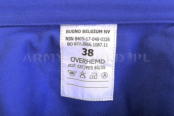 Dutch Military Work Shirt Blue Original New Set of 100 Pieces