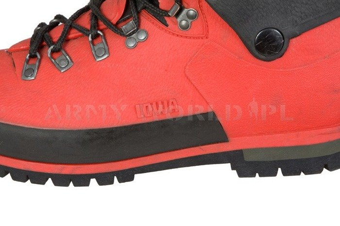 Extreme Mountaineering Boots LOWA Bundeswehr With Gore-Tex Insert Red Original Demobil
