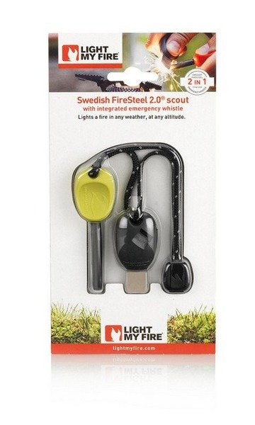 FIRE STARTER FireSteel Scout 2.0 LIGHT MY FIRE BRIGHT GREEN- Lime NEW