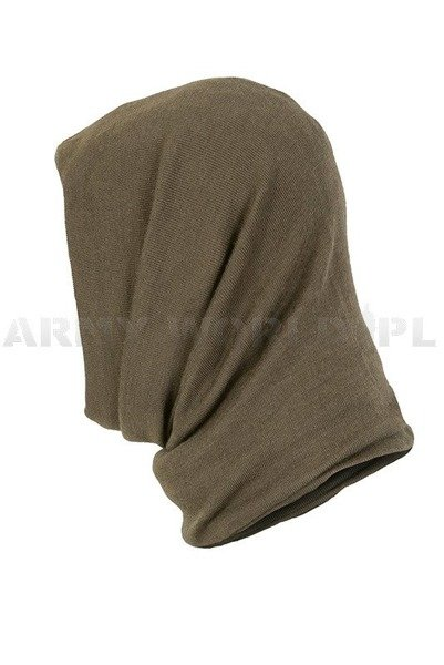 Face veil/sleeve/half balaclava Polish Army Oliv Original Secondhand