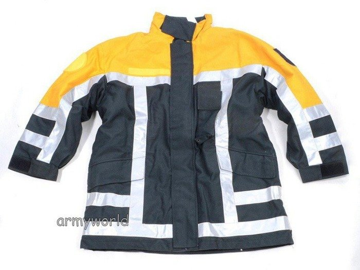 Firefighter Jacket Nomex / Gore-tex Flame-retendant and Waterproof Dutch Original New