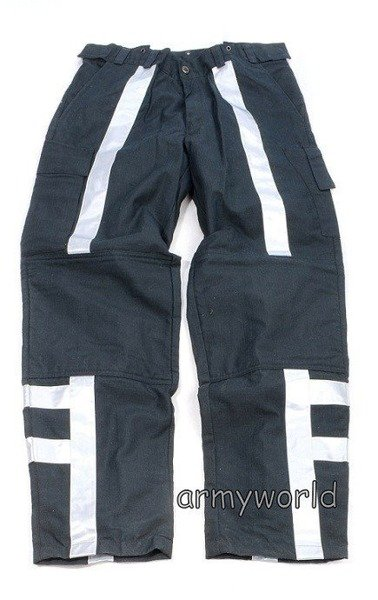 Firefighter Trousers Nomex / Gore-tex  Flame-retendant Waterproof Dutch Vertical Reflectors Used