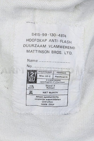 Flame-Resistant/ Antiflash Balaclava White Used