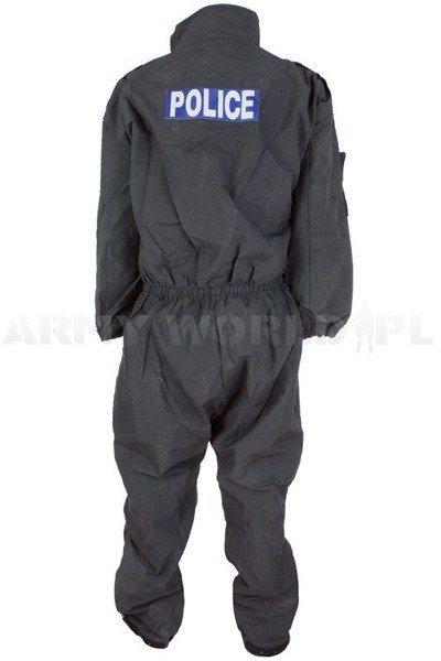 Flare retardant Police Coveralls British Model 304 With A Sign Navy Blue Original Used