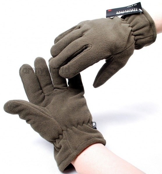 Fleece Gloves Thinsulate Warmed Oliv Mil-tec New