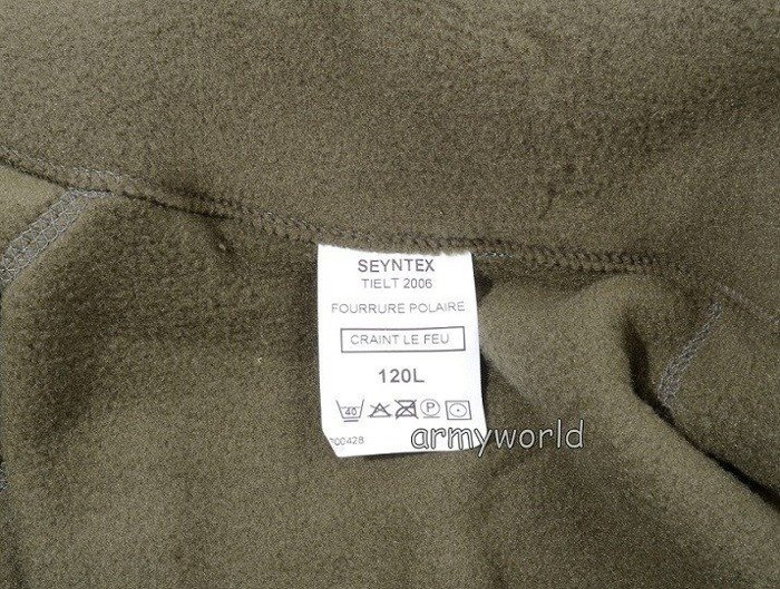 French Military Fleece Jacket Oliv Original Demobil Looks Like New One