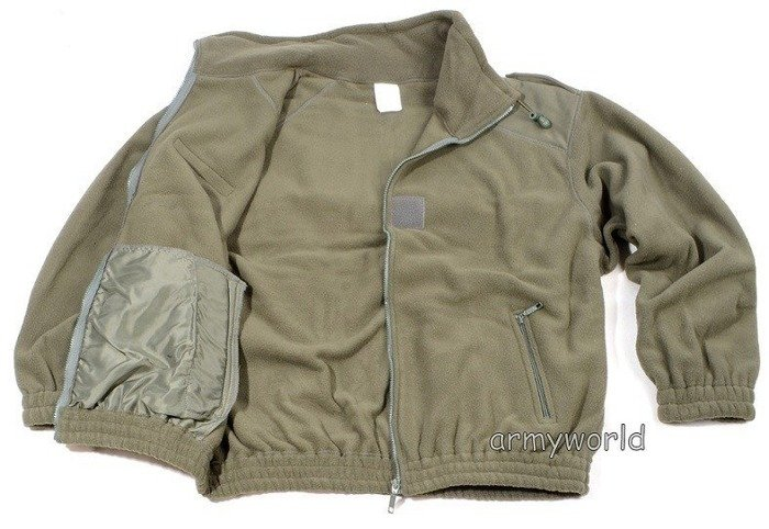 French Military Fleece Jacket Oliv Original Demobil Very Good Condition