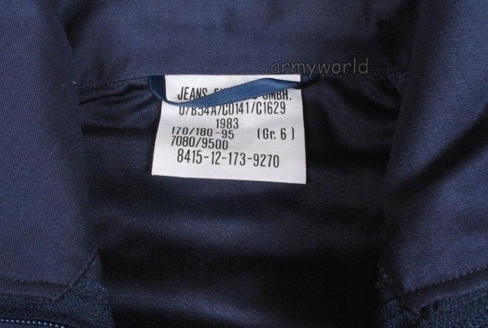 German Military Navy Shirt With Stand-up collar Dark Blue Original NEW