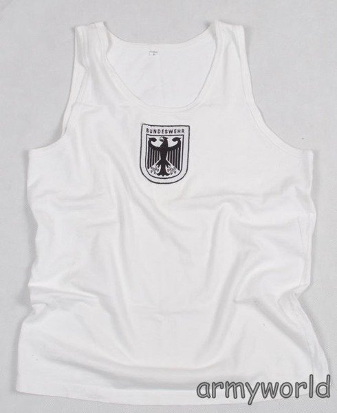 German Military Singlet Undershirt Bundeswehr Original White Demobil