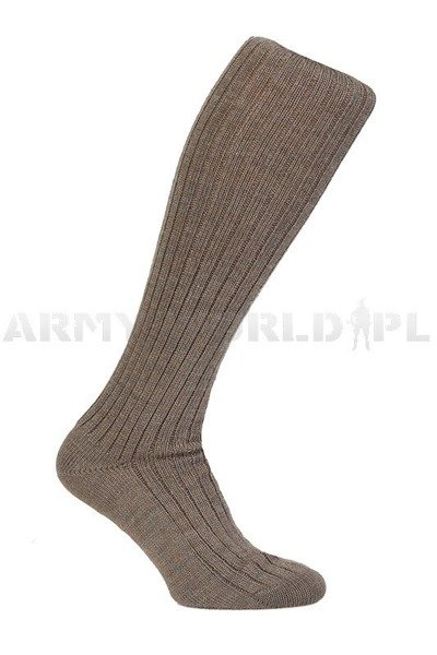 German Police Socks Long Brown Winter New
