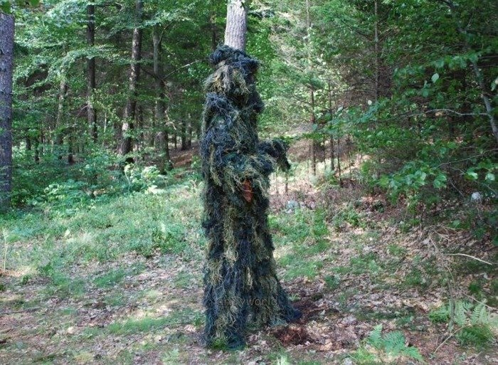 Ghillie Suit set - shirt + trousers + hat + weapons cover - Masking suit for hunters
