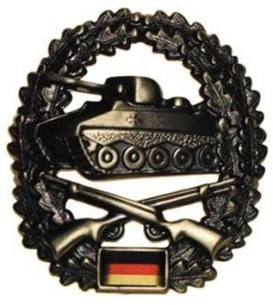 Green Military beret With Decoration Panzergrenadier- Panzer Support Infantry Original Demobil