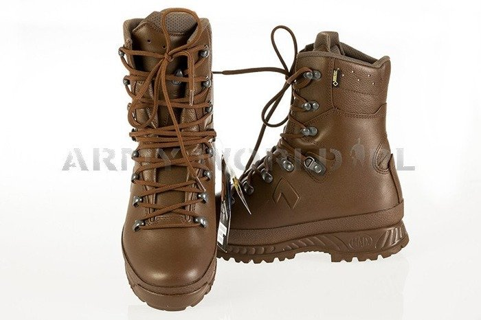 HAIX Boots Cold Weather Brown - British Winter Military Shoes Goretex New II Quality Art. 201501