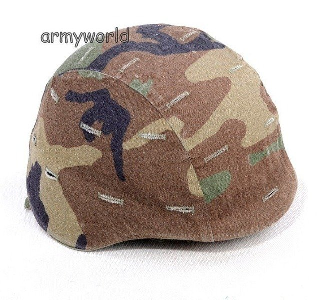 Helmet Cover FRITZ/M1 US Army WOODLAND Original Demobil