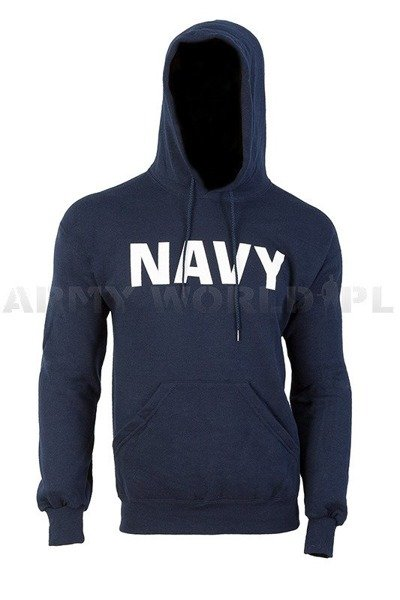 Hoodie Navy Military US Army Soffe Dark Blue New