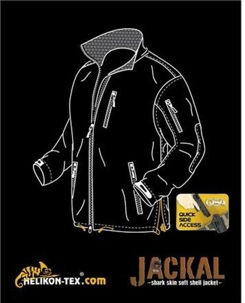 Jacket Jackal SoftShell Helikon-Tex Shark Skin Coyote