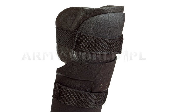 Knee and Tibia Protectors Dutch Army Black Original New