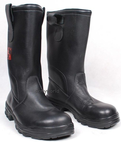 Leather Fireman Shoes Jackboots Original Very Good Condition